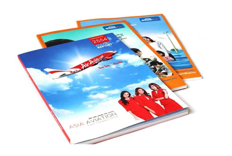 รูป Annual Report AirAsia HP - ประกอบเนื้อหา Print On Demand