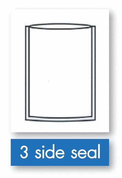 รูป 3 side seal - ประกอบเนื้อหา บรรจุภัณฑ์อ่อนตัว