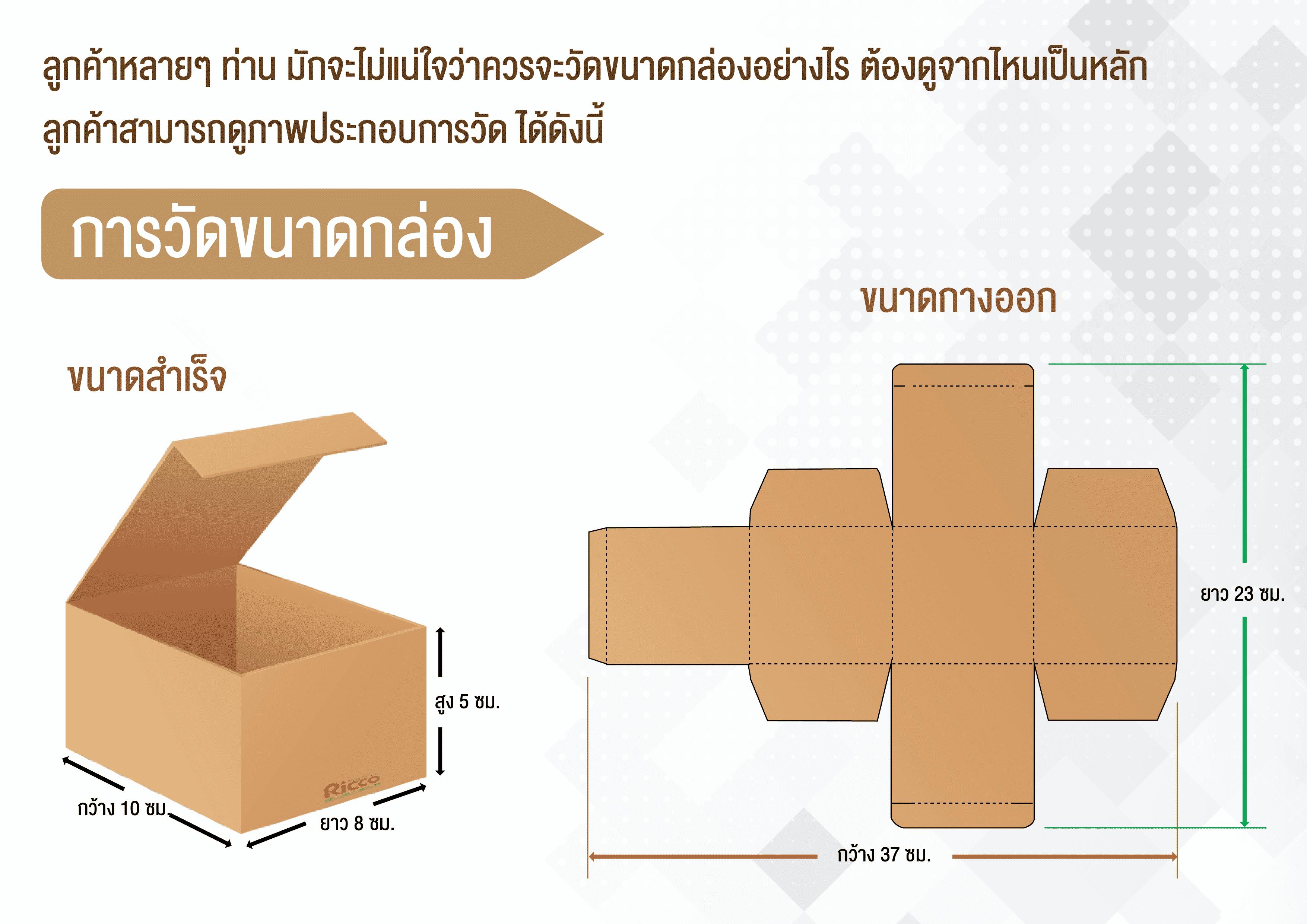 รูป Present Packaging Ricco 05 - ประกอบเนื้อหา กล่องบรรจุภัณฑ์