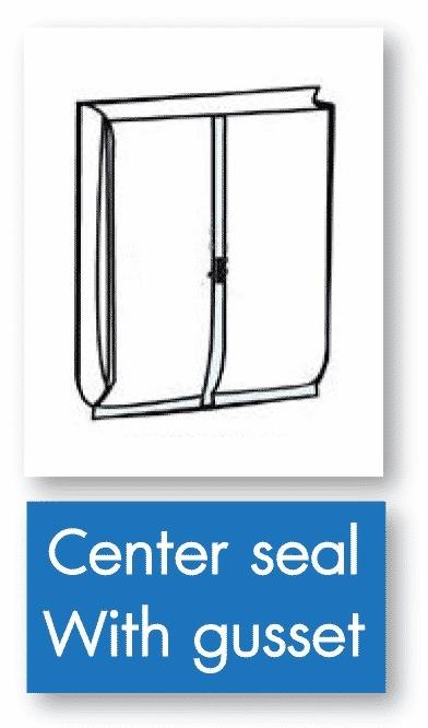 รูป center seal with gusset - ประกอบเนื้อหา บรรจุภัณฑ์อ่อนตัว