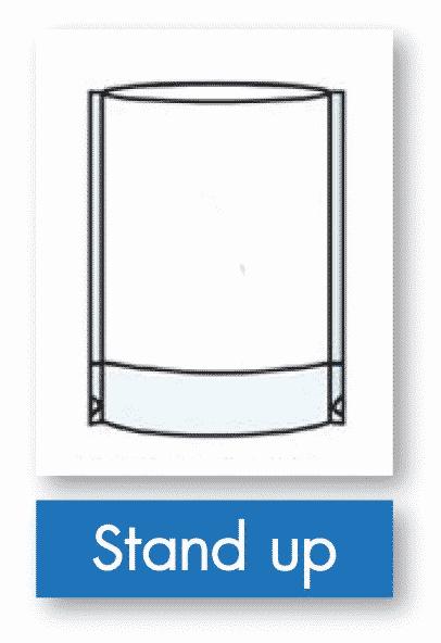 รูป stand up - ประกอบเนื้อหา บรรจุภัณฑ์อ่อนตัว