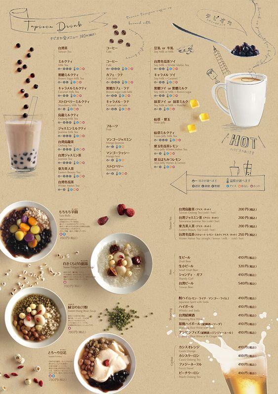รูป coffee 03 - ประกอบเนื้อหา 10 ตัวอย่างเมนูเครื่องดื่ม แผ่นเดียว ดีไซน์สวย เหมาะสำหรับร้านกาแฟ คาเฟ่