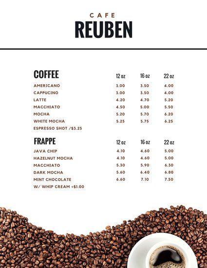 รูป coffee menu 03 - ประกอบเนื้อหา พาชม 10 ตัวอย่างงานออกแบบ และดีไซน์ เมนูร้านกาแฟ