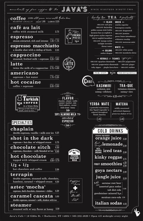 รูป coffee menu 05 - ประกอบเนื้อหา พาชม 10 ตัวอย่างงานออกแบบ และดีไซน์ เมนูร้านกาแฟ