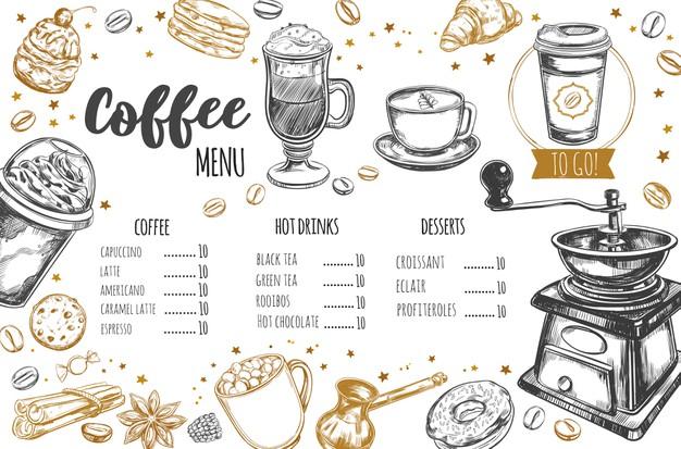 รูป coffee menu 09 - ประกอบเนื้อหา พาชม 10 ตัวอย่างงานออกแบบ และดีไซน์ เมนูร้านกาแฟ