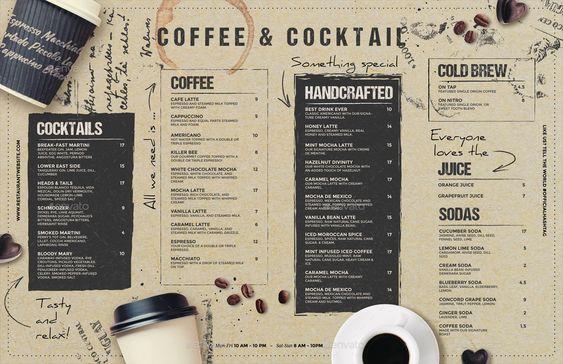 รูป coffee menu 15 - ประกอบเนื้อหา พาชม 10 ตัวอย่างงานออกแบบ และดีไซน์ เมนูร้านกาแฟ